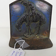 Vintage - Door Stop - Cast Iron - Indian on Horse