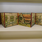 Vintage - Portable Dollhouse Book - Sam'l Gabriel Sons & Company, 1920