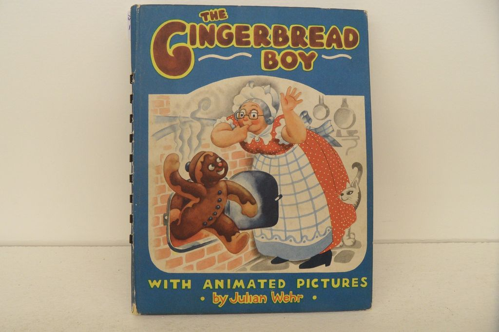 Vintage - Book - The Gingerbread Boy w/animated pictures