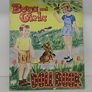 Vintage - Paper Doll Book - Boys and Girls! - 1955