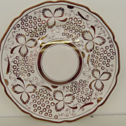 Vintage - Plate - Copper Lustreware - Grays Pottery