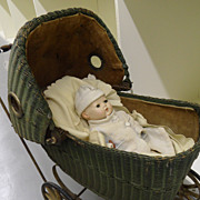 Vintage -  Doll Carriage w/Effanbee Composition Doll & Accessories
