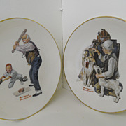 Vintage - Set of Two - Norman Rockwell Display Plates - 1981