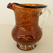 Vintage - Pitcher - Hand-Blown Glass