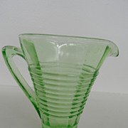 Vintage - Depression Glass Creamer - Green
