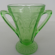 Vintage - Depression Glass - Sugar - Green