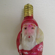 Vintage - Bulb - Santa - Hand-Blown and Painted