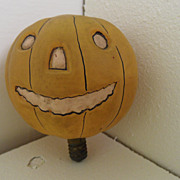 Vintage - Light Bulb - Pumpkin - Hand-blown and painted