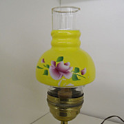 Vintage - Oil Lamp - Hand-Painted