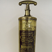 Vintage - Fire Extinguisher - Brass - Quick Aid Fire Guard