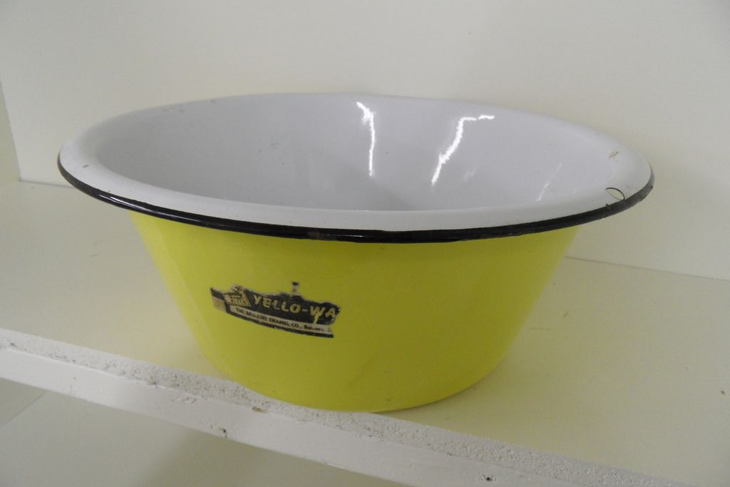 Vintage - Enamel Bowl - Yello-Ware!  The Bellaire Enamel Co.
