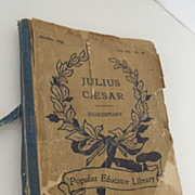 Antique - Book - Julius Ceasar Shakespeare - Popular Educator Library - Oct , 1899