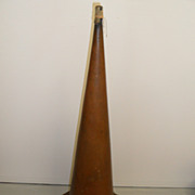 "Vintage - Phonograph Horn - Brass - 43"" tall - BIG!"