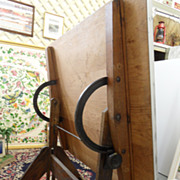 Vintage - Cast Iron Drafting Table - 1920's