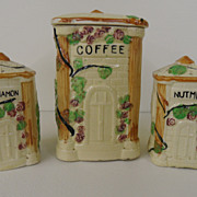Vintage - Porcelain - Coffee Canister and matching Shaker's!