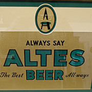 SOLD Vintage - Sign - Altes Beer