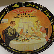 SOLD Vintage - Metal Tray - Dawson Ale and Lager