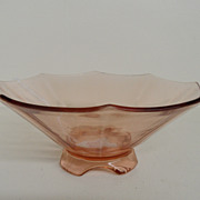 Vintage - Depression Glass - Pink Bowl
