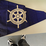 Vintage - Yacht Club Flag - 1950's