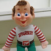 "Vintage - Stuffed Toy - ""Sparky"" 7-Up's Holiday Helper"