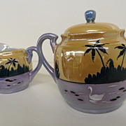 Vintage - Creamer and Sugar - Made in Japan - Lustreware