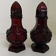 Vintage - Avon Cape Code - Ruby Red Salt and Pepper Shakers
