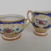 Vintage - Porcelain - Cream and Sugar - Made in Japan