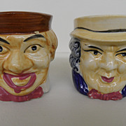 Vintage - Porcelain - Face Mugs - Made in Japan