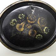 Vintage - Metal Tray - Pretty Flowers