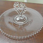 Vintage - Glass Pastry Dish - Candlewick - 1936 - 84