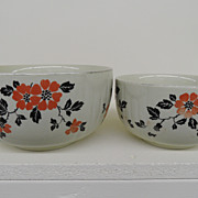 Vintage - Porcelain - Set of Two Mixing Bowls