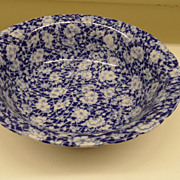 Vintage - Ironstone Bowl - Victoria Ware - Flow Blue
