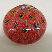 Vintage - Paperweight - Milifiore Peacock