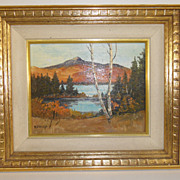Vintage - Oil on Board - B.Frost artist