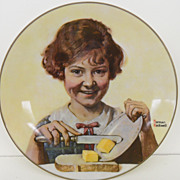 Vintage - Porcelain - Norman Rockwell's 1973 &quot;Butter Girl&quot;