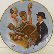 "Vintage - Porcelain - Norman Rockwell's ""Mother's Day Off"""