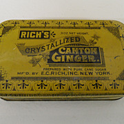 Vintage - Rich's Crystallized Canton Ginger Tin
