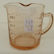 Vintage - Depression Glass - Measuring Cup - Kellogg's