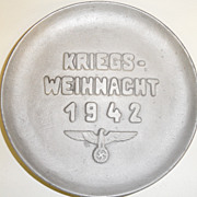 SOLD Vintage - Plate - Aluminum - Nazi