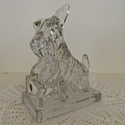 Vintage - Glass - Cambridge - Scotty Dog