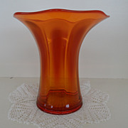 Vintage - Glass - Imperial Glass - Vase - Orange