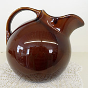 Vintage - Pottery - Hall - Pitcher - Brown