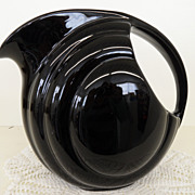 Vintage - Pottery - Pitcher - Black