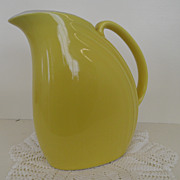 Vintage - Pottery - Hall - Pitcher - Yellow
