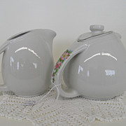 Vintage - Porcelain - Hall - Covered Tea Pot and Creamer