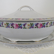 Vintage - Porcelain - Rosenthal Selb Bavaria -Covered Soup Tureen and Platter