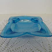 Vintage - Glass - Ashtray - Turquoise