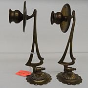 Vintage - Wall Hung - Candlesticks - Brass - Pair