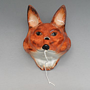 Vintage - Fox String Holder or Twine Box