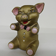 Vintage - Metal - Piggy Bank - Made in Japan